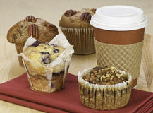 Muffins and coffee Royalty Free Stock Images