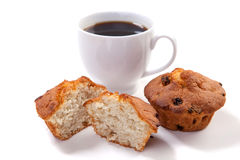 Muffins with coffee Stock Image