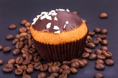 Muffins with coffee grains Stock Image