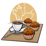 Muffins and coffee Stock Image