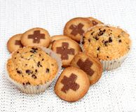 Muffins and cookies Stock Image