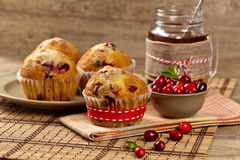 Muffins with cranberry Stock Photo