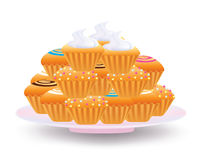 Muffins and cup cakes Stock Photography