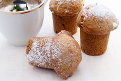 Muffins and cup of coffee Royalty Free Stock Photos