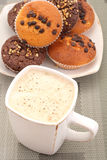 Muffins and cup of coffee Royalty Free Stock Image
