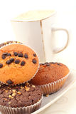 Muffins and cup of coffee Stock Photography