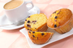 Muffins and cup of coffee Stock Image
