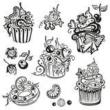 Muffins, cupcakes Stock Image