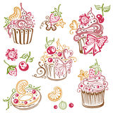 Muffins, cupcakes Royalty Free Stock Photos