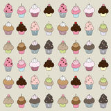 Muffins and cupcakes Stock Photography