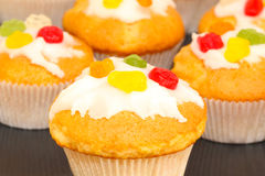 Muffins, cupcakes Stock Photo