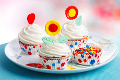 Muffins decorated Royalty Free Stock Photography