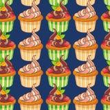 muffins deseniują bezszwowego Zdjęcia Stock