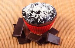 Muffins with desiccated coconut and pieces of chocolate Royalty Free Stock Photography
