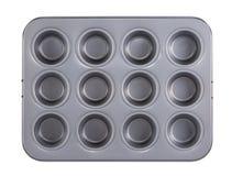 Muffins die dienblad bakken Stock Foto