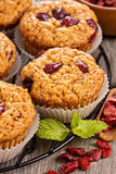 Muffins with dried berries Royalty Free Stock Image