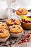 Muffins with dried berries Royalty Free Stock Photos