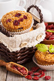 Muffins with dried berries Royalty Free Stock Images