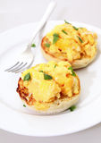 Muffins and egg vertical Royalty Free Stock Images