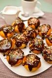 Muffins en koffie Royalty-vrije Stock Foto