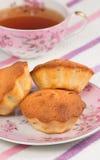 Muffins en thee Royalty-vrije Stock Foto