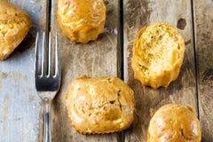 Muffins en Vork Royalty-vrije Stock Foto's