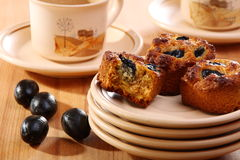 Muffins with feta and olives. Stock Photo