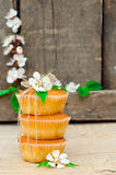 Muffins with filling Royalty Free Stock Photography