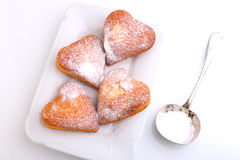 Muffins in the form of heart Royalty Free Stock Images