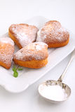 Muffins in the form of heart Stock Photo