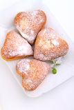 Muffins in the form of heart Stock Image