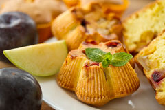 Muffins with fruit Royalty Free Stock Image