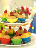 Muffins and fruits Royalty Free Stock Images