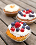 Muffins with fruits Stock Photo