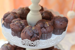 Muffins with gold dust Royalty Free Stock Photo