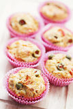 Muffins with green olives Royalty Free Stock Photos