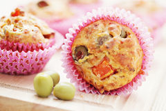 Muffins with green olives Stock Image