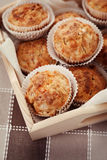 Muffins with ham and cheese Stock Images