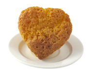 Muffins  in a heart Stock Images