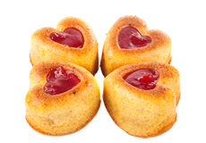 Muffins in a heart shape Royalty Free Stock Image
