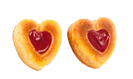 Muffins in a heart shape Royalty Free Stock Photo