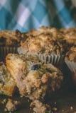 Muffins, heerlijke gebakken goederen stock fotografie