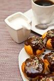 Muffins i kawa Obraz Royalty Free