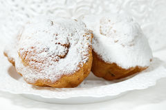Muffins with icing sugar Stock Image
