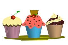 Muffins - Illustration Lizenzfreie Stockfotografie