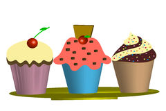Muffins - Illustration Royalty Free Stock Photography