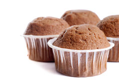Muffins isolated on white Stock Image