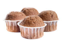 Muffins isolated on white Stock Images