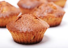 Muffins isolated on white royalty free stock images