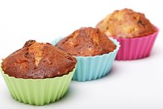 Muffins isolated on white royalty free stock photo